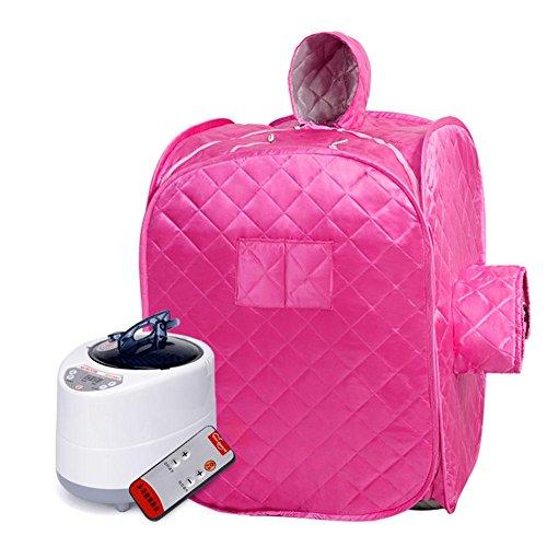 Z&HX-Portable, Folding, InfrarotSauna / Outdoor 2 Personen Sauna / SPA Gewichtsverlust Detox Sauna Box , pink