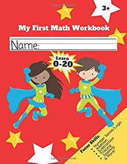 My First Math Workbook: Superhero Numbers for Kids 3-6
