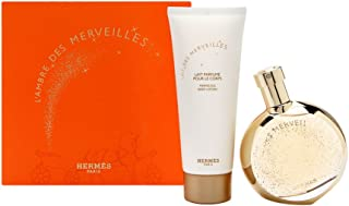 L'Ambre Des Merveilles by Hermes for Women 2 Piece Set Includes: 1.6 oz Eau de Parfum Spray + 2.5 oz Perfumed Body Lotion
