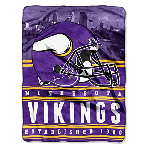Officially Licensed NFL Minnesota Vikings 'Stacked' Silk Touch Throw Blanket, 60' x 80', Multi Color