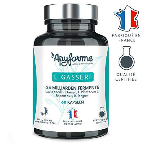 Probiotisches Abnehmen Laktobazillus Gasseri - 25 Milliarden CFU mit 2g/Tag - Gastro-resistente Kapseln - 100% FRANZÖSISCHES Nahrungsergänzungsmittel - 60 Gel - Hergestellt in Frankreich von Apyforme