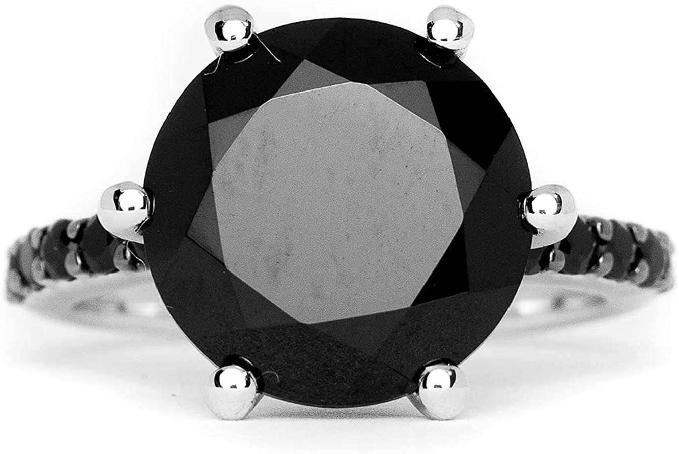 HIFLYER JEWELS Stunning Black Max 61% OFF OFFicial shop Spinel 925 Solid Sterling Ring Sil
