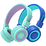 [2 Pack] iClever BTH02 Kids Wireless Headphones - Headphones for Kids with MIC