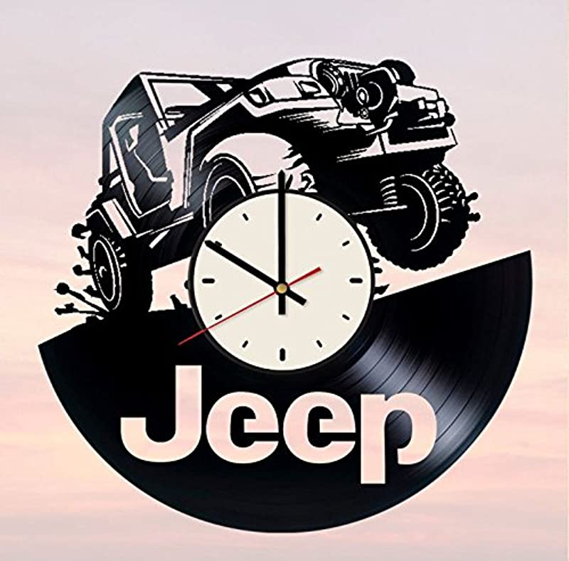 Jeep Off Road Vehicle Vinyl Wall Clock Automobile Unique Gifts Living Room Home Decor