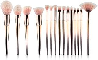 Umbra Beauty Makeup Brushes Premium Synthetic 15 Piece Makeup Brush Set Foundation Powder Concealer Eye Shadow Make Up Brushes
