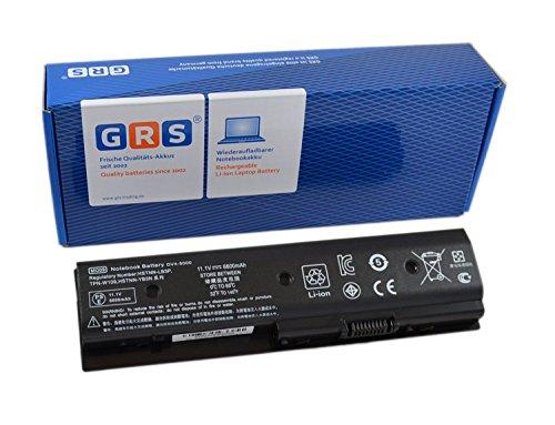 GRS Batteria HP Pavilion M4, M6, HP dv7-7000, HP dv6-7000, dv6-7002TX, dv6-8000, dv4-5000, compatibile con HSTNN-LB3P, 671567-831, MO06, HSTNN-YB3N, MO09,LB3N, TPN-W106, LB3P, TPN-W107 M006, M009 Laptop Batteria 6600mAh 11,1V