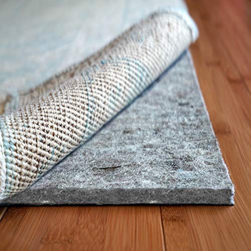 Rug Pad USA, 7/16' Thick, Felt and Rubber, 3'x5', Superior Lock- Premium Non Slip Rug Padding for Hardwood Floors