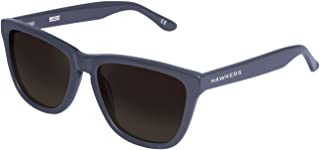 Hawkers Men's Diamond Grey Dark One X OX28 Rectangular Sunglasses, Black, 12 mm