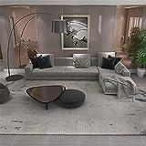 Kunsen tapetes para Sala Diseño Simple de COAFE Colore Colore TRIPES Beige Fácil de Limpiar, Alfombra Grande 140X200cm