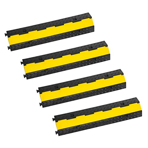 4x 1 Meter Kabelbrücken Stecksystem LKW/PKW Überfahrschutz Kabelschutz 2-Kanal Brücke Stecksystem