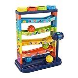 Milageto 5 Livelli di Rotolamento Palla Goccia Giocattolo Labirinto Gara Giocattoli Montessori per I Più Piccoli