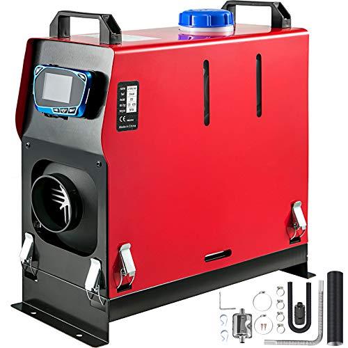VEVOR Calentador de Aire Diesel, 12V 5KW Calentador de Combustible Diesel, con 1 Salida de Aire y Interruptor LCD (con Interruptor LCD Azul)