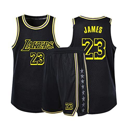 YUNAN - Camiseta de baloncesto para niños y adultos, diseño de Los Angeles Lakers # 23 Lebron James Swingman Uniforme, camiseta de verano Dri-fit + pantalones cortos