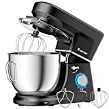 COSTWAY Stand Mixer, 6-Speed 7.5 QT Tilt-head Electric Kitchen Food Mixer 660W with Stainless Steel Bowl,...