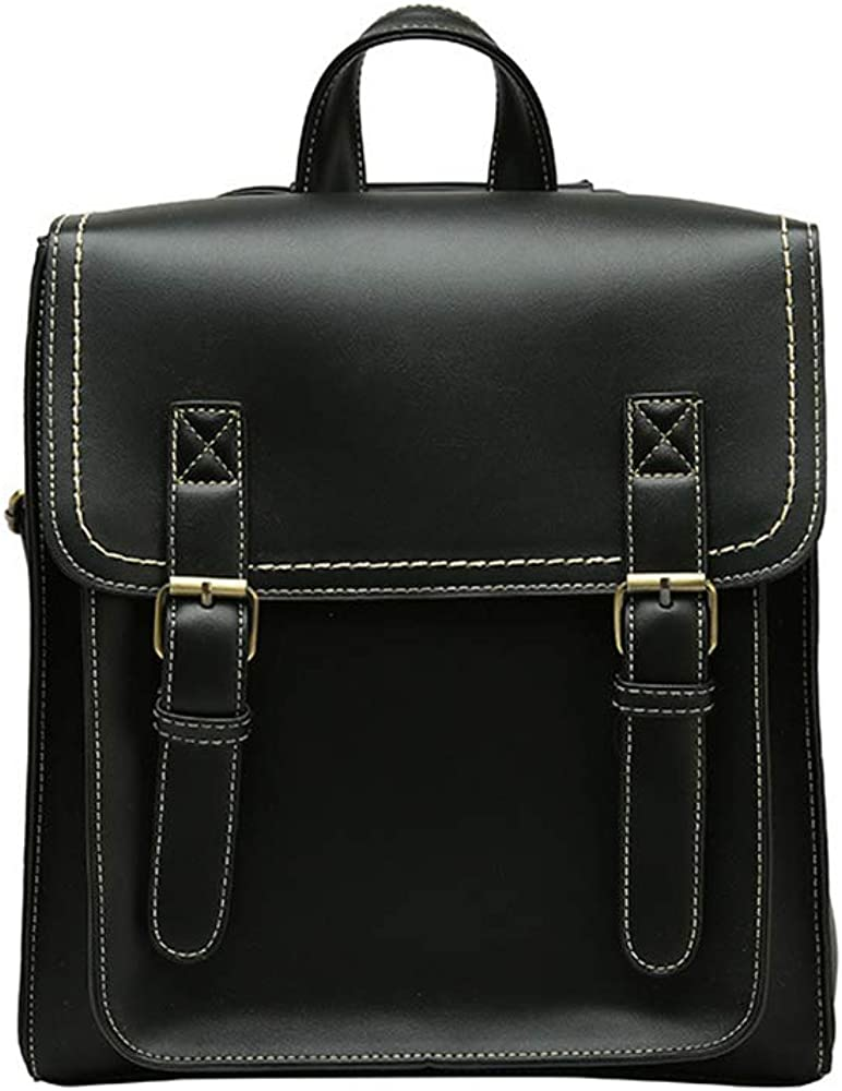 Bee Series Women's Contrast Color Faux Leather Backpack Ladies Convertible Shoulder Bag