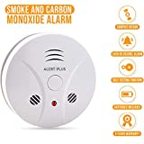 Smoke and Carbon Monoxide Detector - Battery Operated Smoke CO Alarm Detector Combo Unit (5 Years Warranty)
