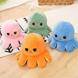 BACKGAMMON ® Happy Angry Moody Happy Sad Reversible Octopus Plush Toy Reversible Octopus, Mini Stuffed Animal Toy Plush Toy for Kids, Gifted Toy Multicolor (Pack of 5)