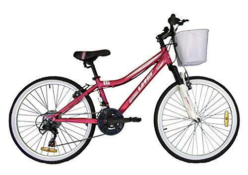 Umit Bicicletta da 24 pollici Diana, per bambini e ragazzi, con cambio e sospensione anteriore, unisex, colore rosa
