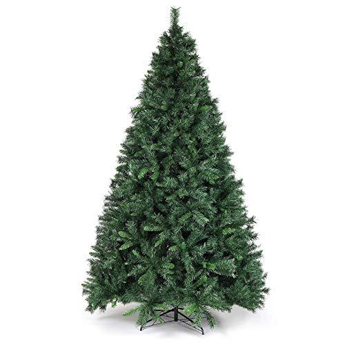 SALCAR Weihnachtsbaum künstlich 270cm mit 1468 Spitzen, Tannenbaum künstlich Schnellaufbau inkl. Christbaum-Ständer, Weihnachtsdeko - grün 2,7m