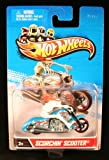 Scorchin' Scooter (Blue / White) Motorcycle and Rider Hot Wheels 1:64 Scale 2012 Die-Cast Vehicle