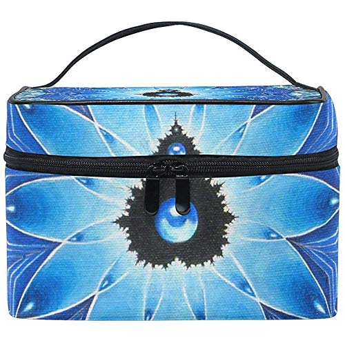 Trippy Art Cosmetic Bag Travel Makeup Train Cases Storage Organizer