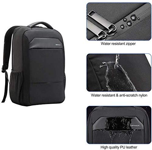 Kopack Zaino Portatile Sottile Del Computer Borsa Da Viaggio antifurto Resistente all'acqua Fino a 15.6 Pollici Nero Decorazioni Blu