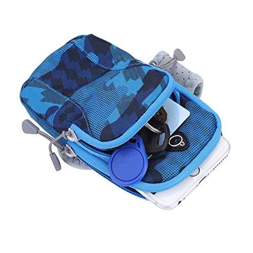 Keenso Laufen Arm Tasche Oxford Tuch Sport Laufen Gym Arm Band Beutel Halter Tasche für Handy(Himmelblau)