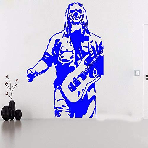 yuandp Big Corey Taylor live knoop gitaar muursticker kinderkamer slaapkamer muziek Super Star Wall decor vinyl wooncultuur 70 * 47cm D