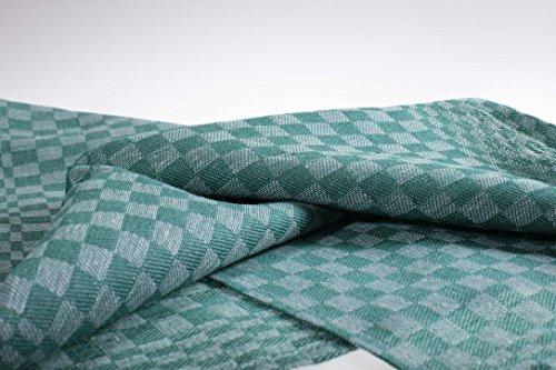 8-er Pack verschieden Farben Grubentücher/Geschirrtücher/Putztücher/ Halbleinen 50x100 cm 55%Leinen45%Baumwolle (grün)