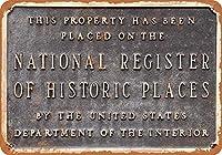 歴史的な場所の全国登録錫サイン壁の装飾金属ポスターレトロプラーク警告サインオフィスカフェクラブバーの工芸品
