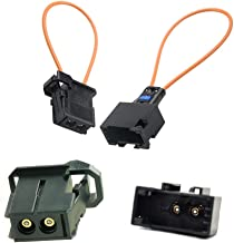 RENYIAO Most Fiber Optic Loop Bypass Male and Female Adapter for Benz Audi Mercedes BMW VW Porsche (2 PCS)
