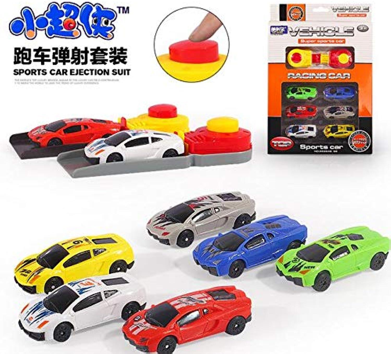 Generic 6pcs Set car Toy Model Sliding car Random Mixed Pull Back Toys Classic Toys boy and Girl Gift 1 64 Pocket car