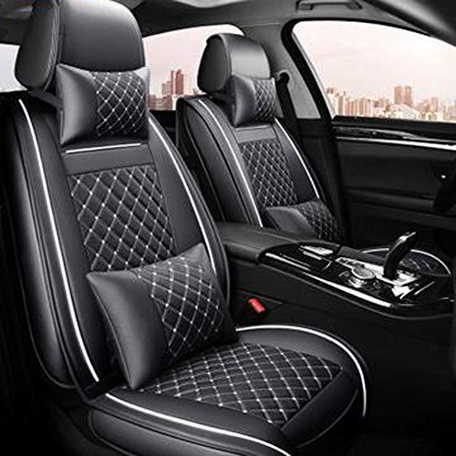 (Vorne + Hinten) luxus Leder auto sitz abdeckung 4 Saison für nissan note juke qashqai j10 almera n16 x-trail t31 navara d40 stil,Schwarz