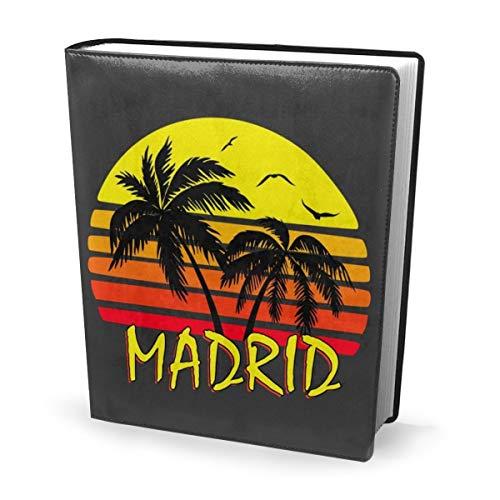 Funda para libro de 9 x 11 pulgadas Madrid Vintage Sun –...