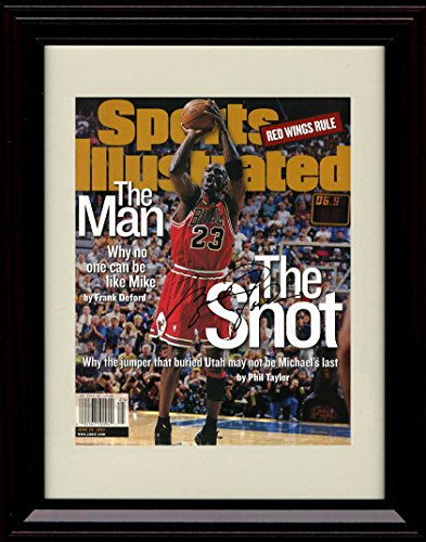 Framed Michael Jordan Sports Illustrated Autograph Replica Print - Chicago Bulls - The Shot