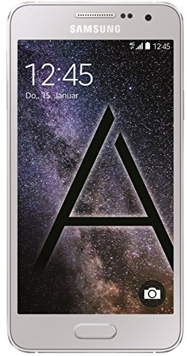 Samsung Galaxy A3 Smartphone (4,5 Zoll (11,4 cm) Touch-Display, 16 GB Speicher, Android 4.4) platinum silver