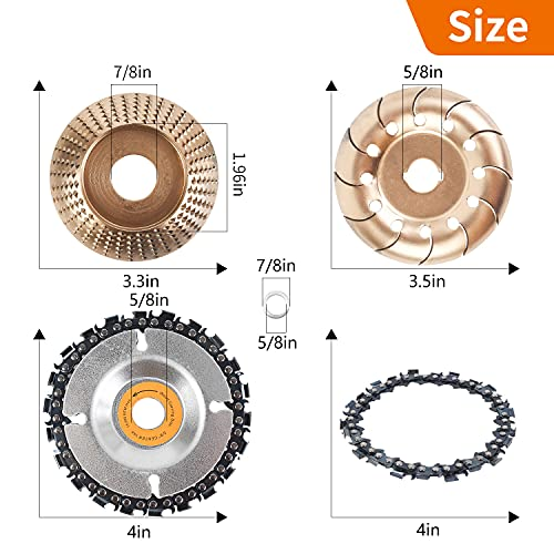 Pomsare Upgraded 4PCS Wood Grinding Wheel for 4