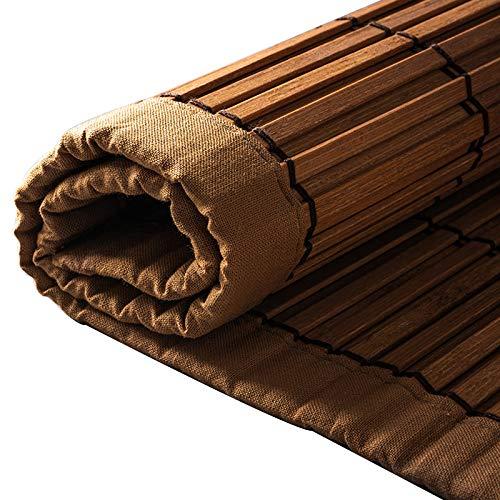 YILANJUN Personalizable Estores de Bambú Eléctrica,Persiana Puerta Enrollables Cortina,Natural,Muy Utilizado (18 Colores)