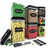 Chef's Path Airtight Food Storage Container Set - 7 PC Set - 10 FREE Chalkboard Labels &...
