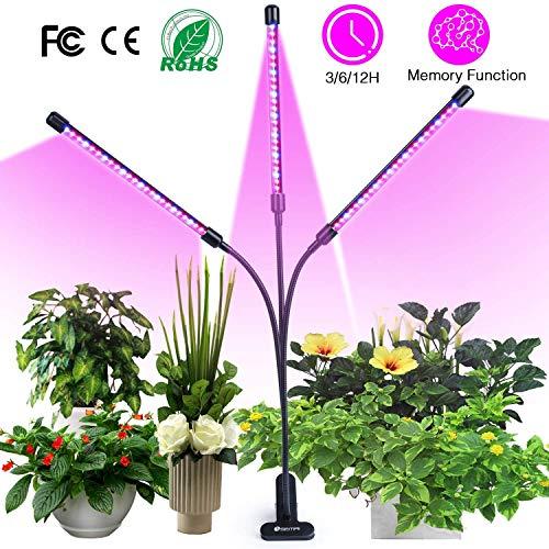 Pflanzenlampe, SKEY Pflanzenlicht mit Zyklus-Timing-Funktion, Automatische Ein- / Ausschalten, 3 Arten von Modus. 5 Arten von Helligkeit, 18W Wachsen licht led Pflanzenleuchte Wachstumslampe Pflanzenlicht mit Zyklus-Timing-Funktion, Automatische EIN- / Ausschalten, 3 Arten von Modus