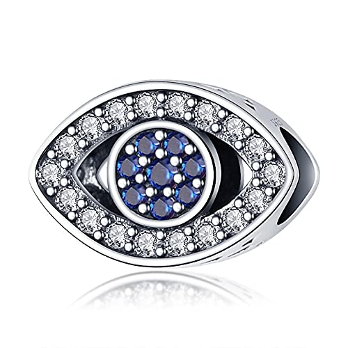 Diy 925 Sterling Jewelry Charm Beads Blue Eye Make Original Pandora Necklaces Bracelets And Anklets Gifts For Women