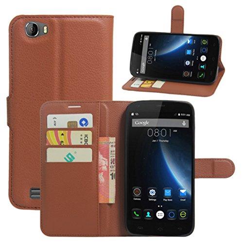 HualuBro Doogee T6 Hülle, Doogee T6 Schutzhülle, Premium PU Leder Wallet Flip Tasche Case Cover mit Karten Slot für Doogee T6 5.5
