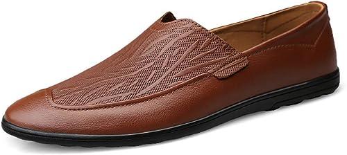 Zapato Casual de Negocios de Cuero Genuino para Hombre Hombre Que Conduce el Dedo del pie Puntiagudo schuhe de Barco Vestido Formal holgazán Pisos de Gran tamaño 37-46