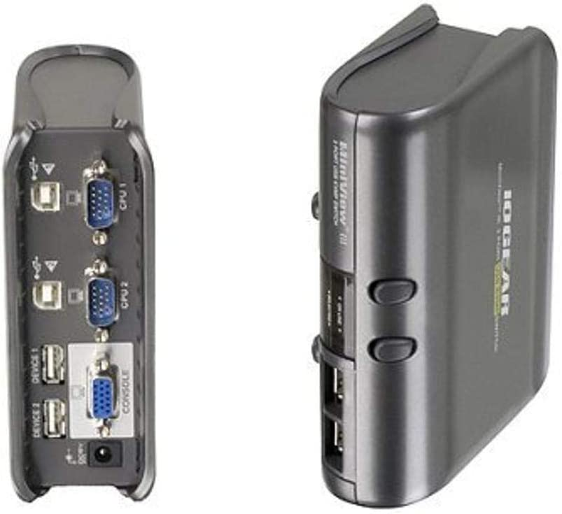 IOGEAR 2-Port MiniView III USB KVMP Switch Kit with Cables, GCS1712