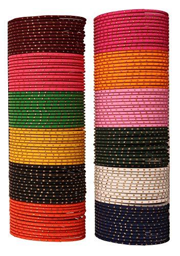 Touchstone Armreif Sammlung Legierung Metall reichen 12 wunderschöne Live-Matt-Finish Armbänder Armreif für Damen 2.5 Set von 144 Mehrfarbig