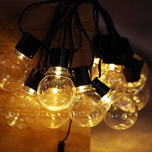 GuoQiang Zhou Guirnalda de luces LED solar para boda, guirnalda de luces LED, impermeable, para exteriores, decoración de jardín (color: blanco cálido, tamaño: talla única)