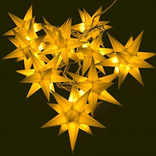 Importeur Pagoda GmbH Leuchtstern Starled 10er Lichterkette gelb