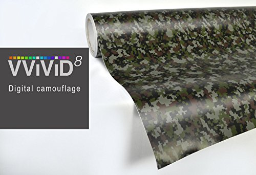 VViViD Digital Camo Vinyl Car Boat Vehicle Wrap 10 Feet x 5 Feet Self Adhesive Stretch Conform Decal Diy