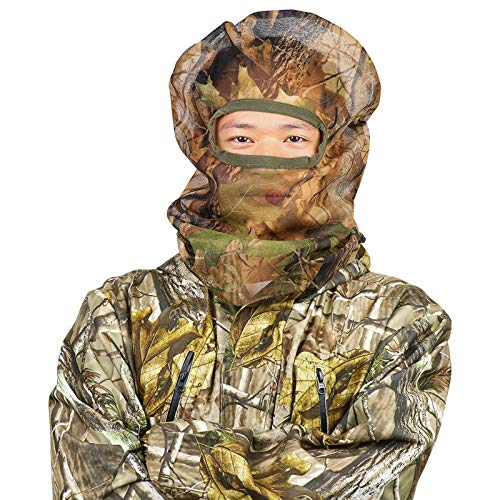 Feyachi Full Camo Face Mask for Concealment Bowhunting Duck Turkey Hunting Face Mask -Camouflage Face Mask for Hunting