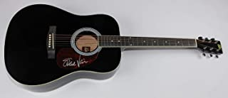 Steve Vai Passion and Warfare Signed Autographed Black Full Size Acoustic Guitar Loa